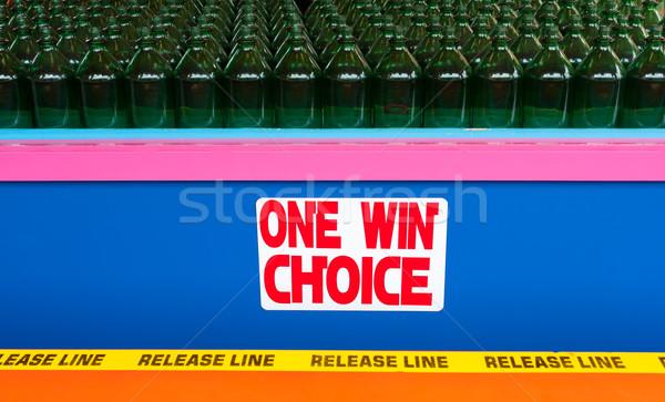 Bottle Toss Game at Boardwalk Stock photo © sbonk