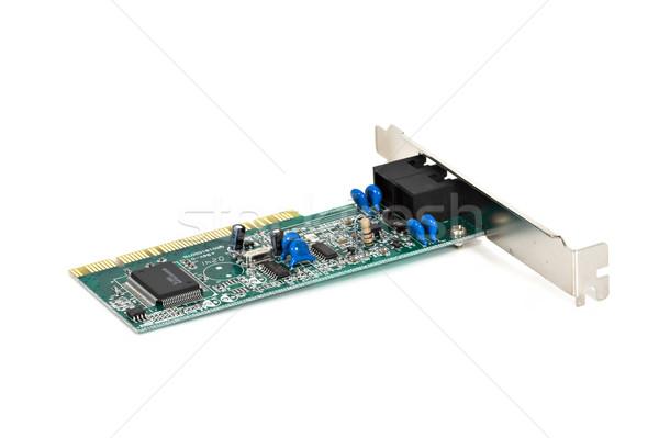 Circuit board computer geïsoleerd witte technologie computers Stockfoto © sbonk