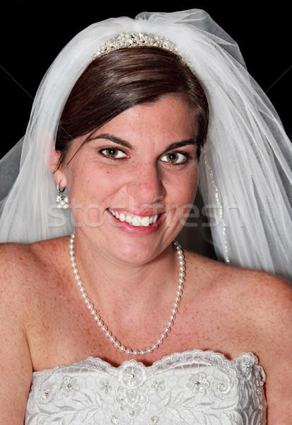 Portret oblubienicy piękna młodych ostry skupić Zdjęcia stock © sbonk