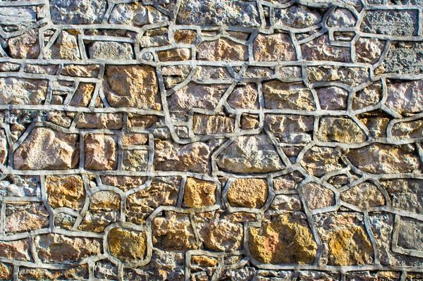 Stenen muur detail patronen textuur muur steen Stockfoto © sbonk