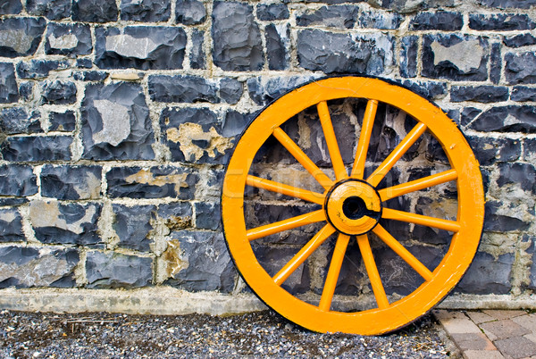 Wooden Wagon Wheel Stock photo © sbonk