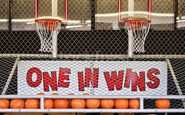Een basketbal spel kans park games Stockfoto © sbonk