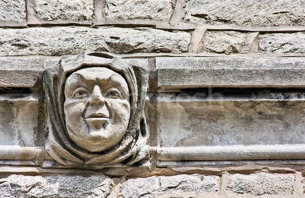 Zdjęcia stock: Twarz · ściany · architektury · budynku · tekstury · budynków