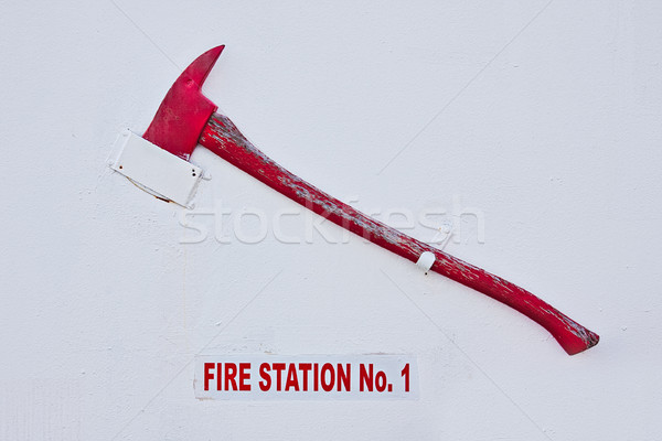Fire Station Axe Stock photo © sbonk