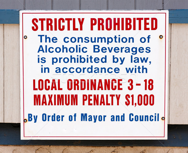Stock photo: Alcohol Consumption Prohibited Sign