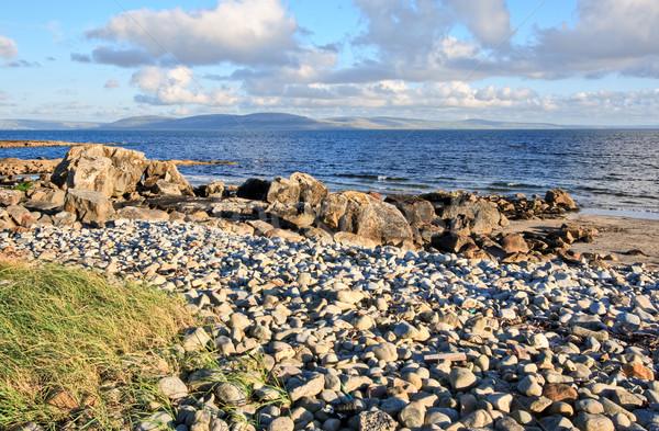 Ierland landschap berg oceaan Blauw bergen Stockfoto © sbonk