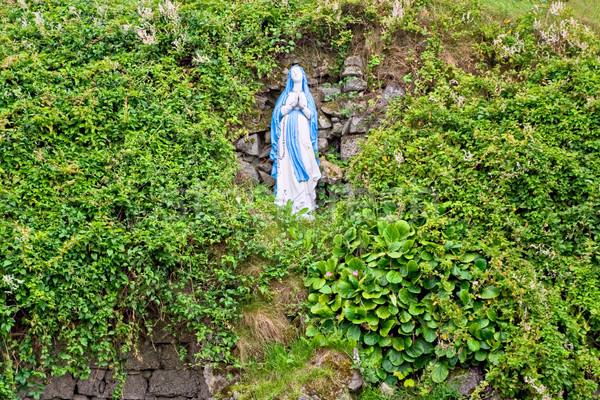 девственница статуя холме матери зеленый молятся Сток-фото © sbonk