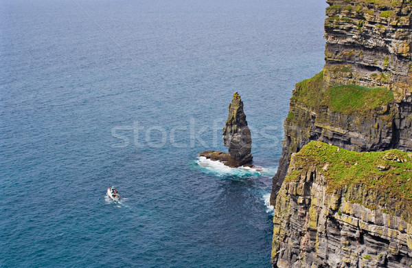 Cliffs of Moher and Boat Stock photo © sbonk