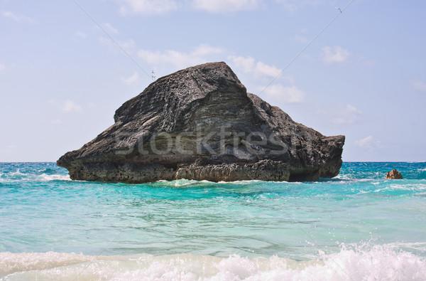 Rock in Ocean Stock photo © sbonk