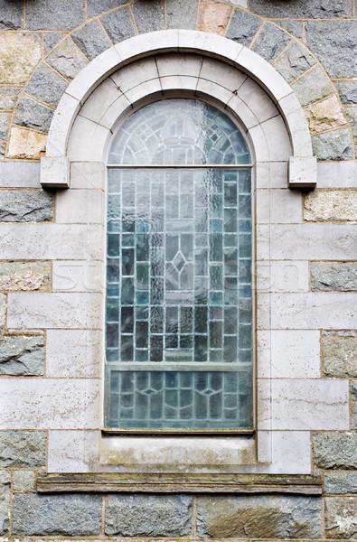 Na zewnątrz widoku kościoła okno starych Zdjęcia stock © sbonk