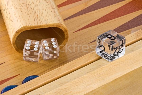 Foto stock: Conselho · rolar · dobrar · madeira · caixa · dados