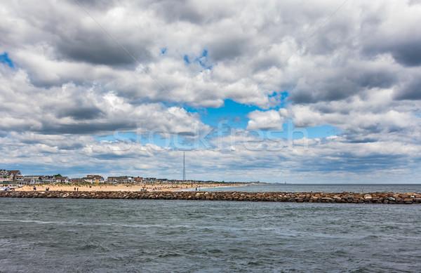 New Jersey rive grand angle photo océan plage Photo stock © sbonk