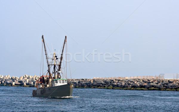 Stock photo: Boat in Inlet