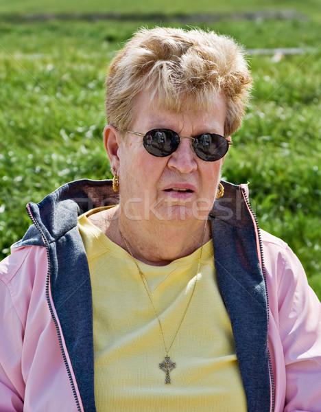 Senior retrato saudável cara Foto stock © sbonk