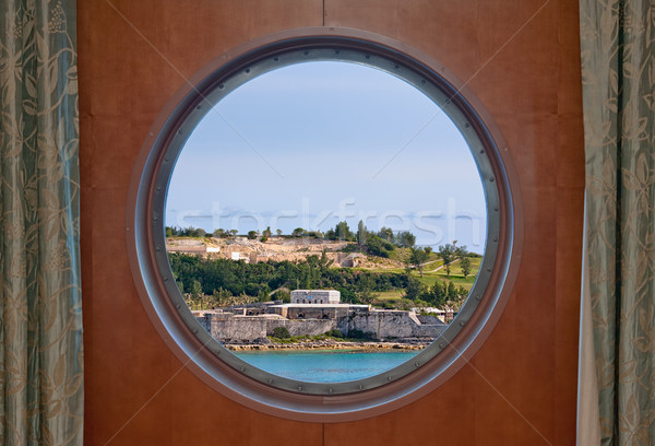 Fort Saint Catherine in Bermuda as Seen Through a Ship Porthole Stock photo © sbonk