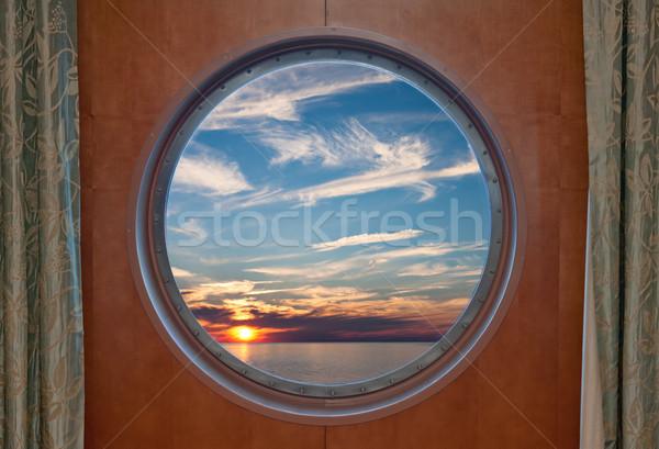 Sunset Through Porthole Stock photo © sbonk