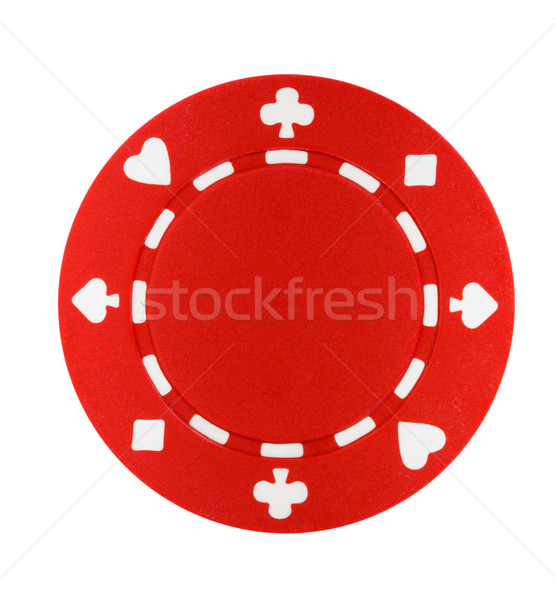 Stock photo: Red Poker Chip