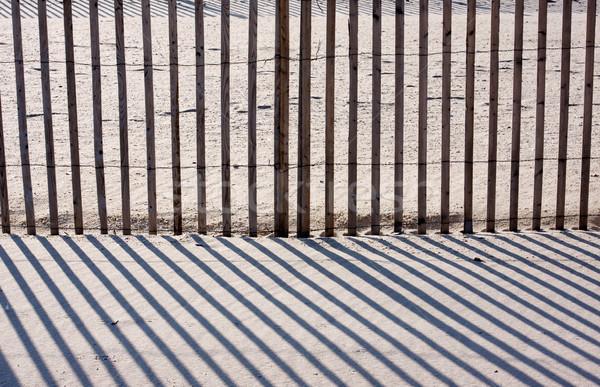 Hek zand schaduwen abstract afbeelding strand Stockfoto © sbonk