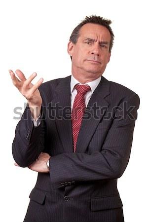 Zakenman pak onzeker aantrekkelijk midden leeftijd Stockfoto © scheriton