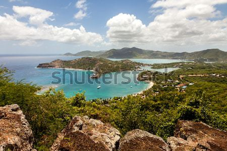 Inglês porto tropical caribbean paisagem céu Foto stock © scheriton