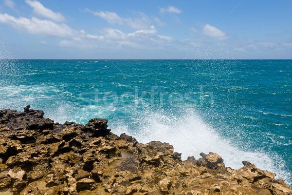 известняк океана горизонте небе воды Сток-фото © scheriton