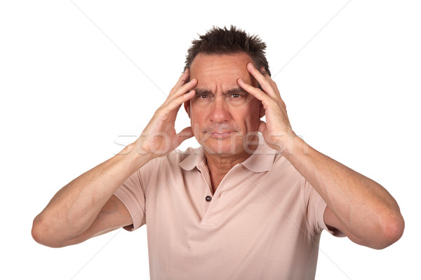 Man Holding Head in Pain with Headache Stock photo © scheriton
