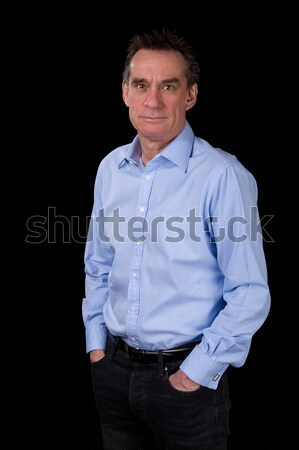 Angry Middle Age Business Man Pointing Finger Stock photo © scheriton