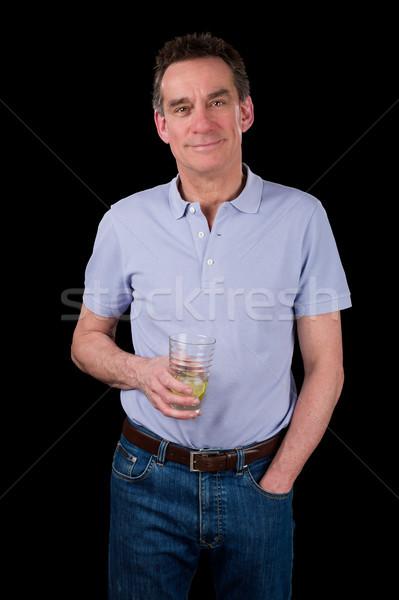 Bonito sorridente meio idade homem Foto stock © scheriton
