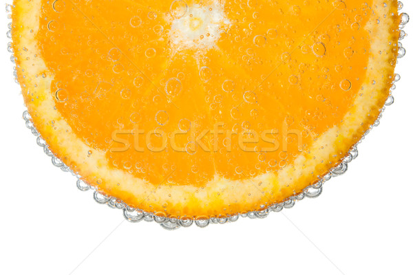 Orange slice water bubble geïsoleerd voedsel Stockfoto © scheriton