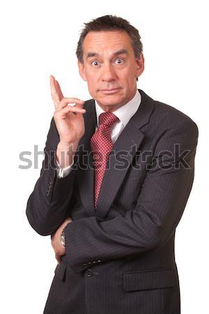 şaşırmış iş adamı takım elbise el Stok fotoğraf © scheriton