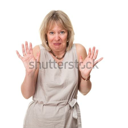 Woman with Shocked Horrified Expression Stock photo © scheriton