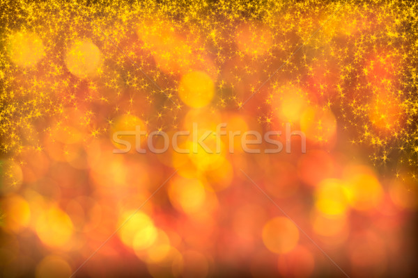 Beautiful Red Golden Background Starlight Twinkles Sparkles Stock photo © scheriton