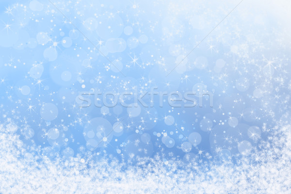Abstract Winter Snowy Blue Sky Background Stock photo © scheriton