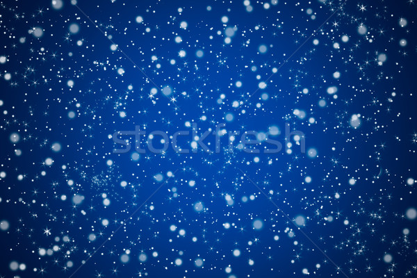 Pretty Bllue Night Sky and Stars Background Stock photo © scheriton