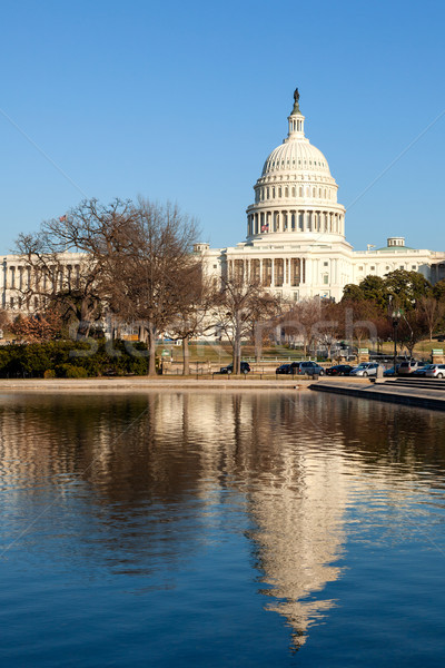 U.S. Capitol and Reflecting Pool in Winter Sunshine Stock photo © scheriton