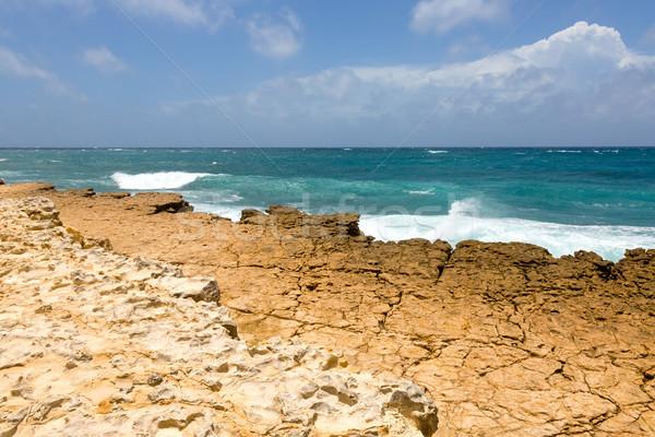 Rocky Limestone Atlantic Coastline at Half Moon Bay Stock photo © scheriton