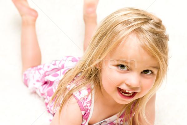 Portre güzel kız Stok fotoğraf © scheriton