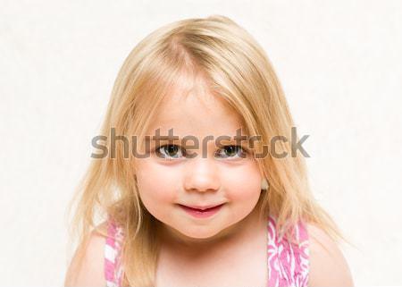 портрет красивой блондинка ухмыляться Сток-фото © scheriton