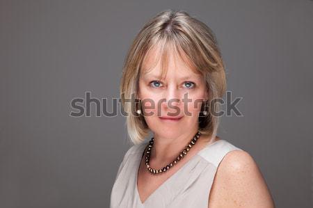Portré nő intenzív néz fej lövés Stock fotó © scheriton