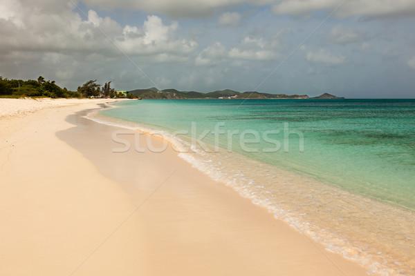 Sandy Tropical Caribbean Cloudy Sky Stock photo © scheriton