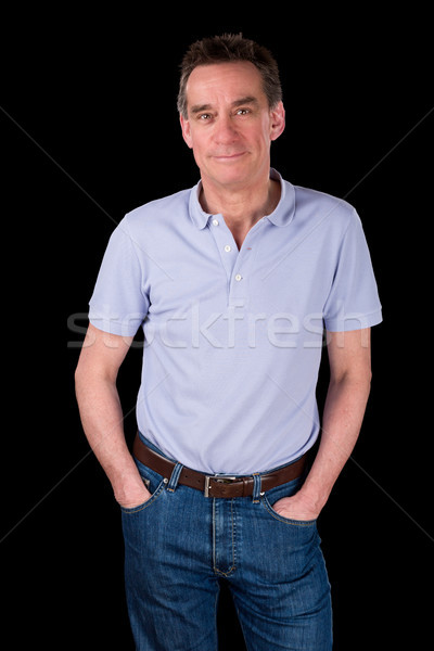 Portrait of Handsome Smiling Happy Man Hands in Pockets Stock photo © scheriton