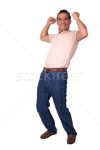 Feliz animado homem ar atraente Foto stock © scheriton