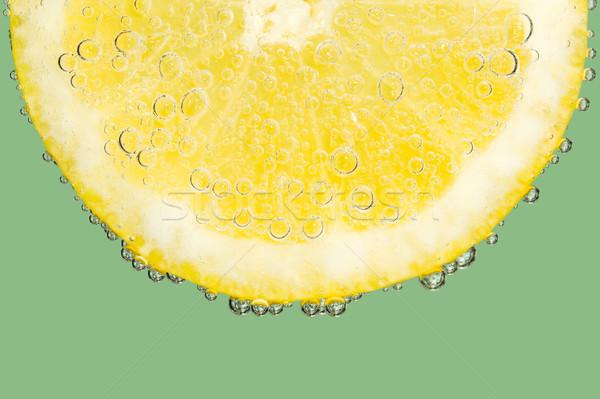 шипучий пузырьки Cool зеленый фрукты Сток-фото © scheriton