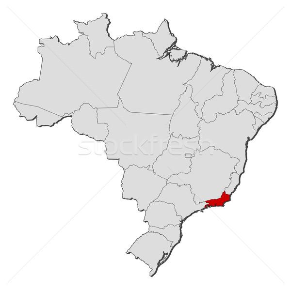 карта Бразилия Рио-де-Жанейро политический несколько мира Сток-фото © Schwabenblitz