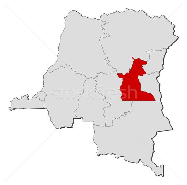 Map of Democratic Republic of the Congo, Maniema highlighted Stock photo © Schwabenblitz