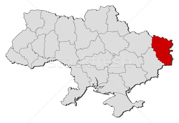 地図 ウクライナ 政治的 いくつかの 世界中 抽象的な ストックフォト © Schwabenblitz