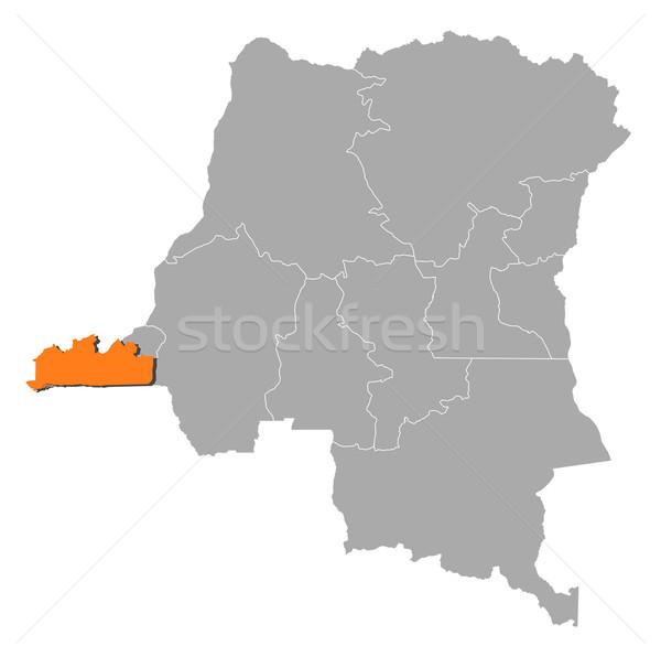 Carte démocratique république Congo résumé fond Photo stock © Schwabenblitz