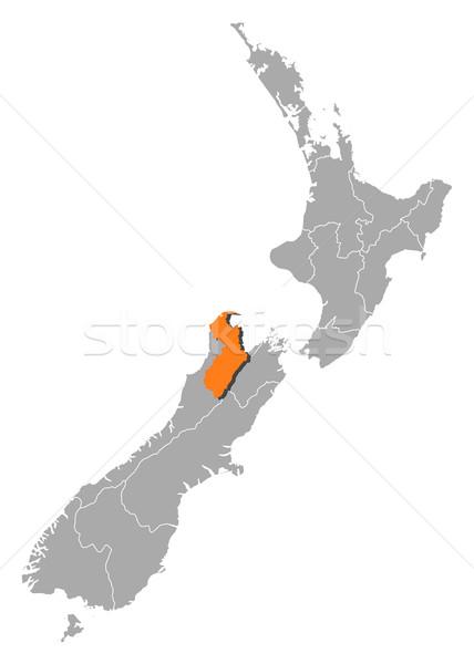 Mapa Nueva Zelandia político regiones resumen Foto stock © Schwabenblitz