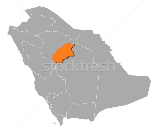 Harita Suudi Arabistan siyasi birkaç soyut arka plan Stok fotoğraf © Schwabenblitz