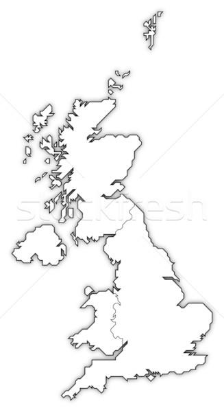 Map of United Kingdom Stock photo © Schwabenblitz